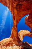 Dubbel båge i bågar nationalpark, Utah, USA Royaltyfria Bilder
