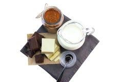 Dubbel choklad arkivfoton