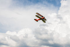 Dubbel Dek - ModelBiplane - Vliegtuigen Stock Afbeelding