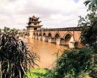 Dubbel Dragon Bridge Royalty-vrije Stock Foto's