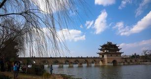 Dubbel Dragon Bridge Stock Afbeelding