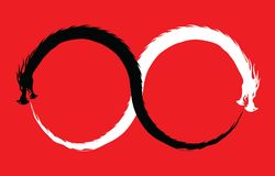 Dubbel Dragon Infinity Symbol vector illustratie