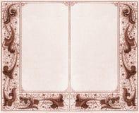 Dubbel frame - sepia royalty-vrije illustratie