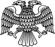 Dubbel geleid adelaarssilhouet vector illustratie