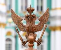 Dubbel-geleide adelaar royalty-vrije stock fotografie