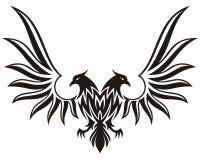 Dubbel geleide adelaar 2 Stock Foto's