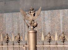 Dubbel-geleide adelaar - het embleem van het Russische Imperium Royalty-vrije Stock Afbeeldingen