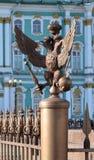Dubbel-geleide adelaar - het embleem van het Russische Imperium Stock Foto's