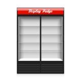 Dubbel glass kyl för skärm för glidningsdörr stock illustrationer