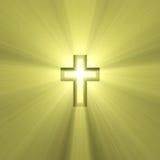 Dubbel kruis met lichte gloed Royalty-vrije Stock Foto's