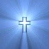 Dubbel kruis met lichte gloed Stock Foto
