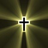 Dubbel kruis met lichte gloed royalty-vrije illustratie