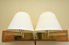 dubbel lamplampa Royaltyfria Bilder