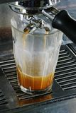 dubbel latte Royaltyfri Fotografi