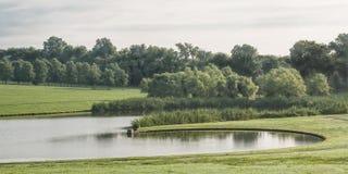 Dubbel liten vik sjö Fotografering för Bildbyråer