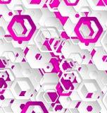 Dubbel mall för färgabstrakt begrepppapper Arkivbild