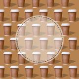 Dubbel patronenglas koffie stock foto's
