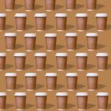 Dubbel patronenglas koffie royalty-vrije illustratie