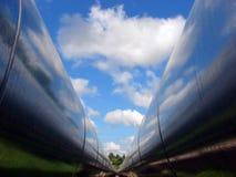dubbel pipeline royaltyfri foto