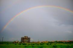 dubbel regnbåge Arkivbild