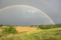 dubbel regnbåge Royaltyfri Fotografi