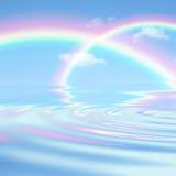 dubbel regnbåge för skönhet arkivbilder