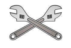 dubbel skiftnyckel 3d Fotografering för Bildbyråer