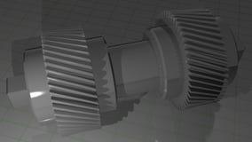 Dubbel spiraalvormig toestel - Pignon vector illustratie