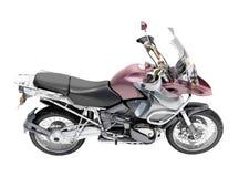 Dubbel-sportar motorcykelnärbild Arkivbild