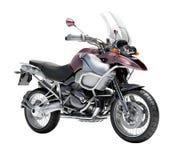 Dubbel-sportar motorcykelnärbild Arkivbilder