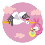 dubbel stork för leverans Royaltyfri Bild