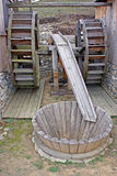 dubbel watermill Arkivbild