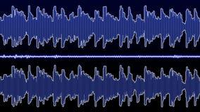 Dubbele audiogolfvormequaliser - 60 seconden stock footage