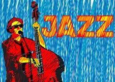 Dubbele baarzen van jazz stock illustratie
