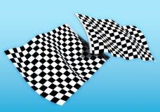 Dubbele beginvlag Stock Foto's