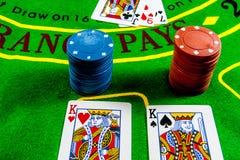 Dubbele Blackjackuitbarsting royalty-vrije stock foto's