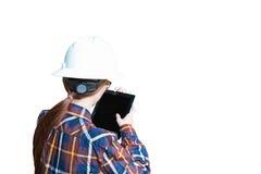Dubbele blootstelling van bedrijfsvrouw met glazen in hipsteroverhemden Stock Afbeeldingen