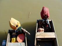 Dubbele boot op Donau royalty-vrije stock afbeeldingen