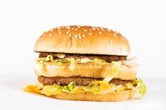 Dubbele cheeseburger Royalty-vrije Stock Foto