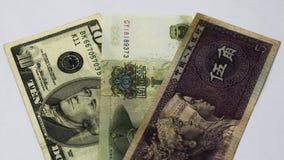 Dubbele de muntmand van China Leningen in yuans Salaris in China Bankof China Uitwisseling, wisselmarkt of Forex in China Verkoop royalty-vrije stock afbeelding