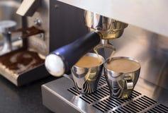 Dubbele Espresso Stock Afbeeldingen