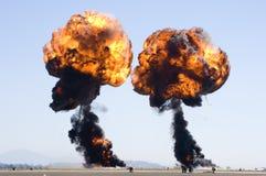 Dubbele explosie Stock Foto's