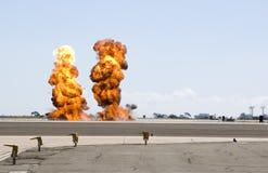 Dubbele explosie Royalty-vrije Stock Afbeelding