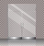 Dubbele glasdeur stock illustratie