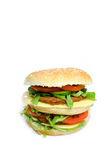 Dubbele hamburger Stock Afbeeldingen