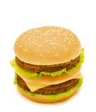 Dubbele hamburger Stock Fotografie