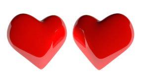 Dubbele hartvorm op witte achtergrond Royalty-vrije Illustratie
