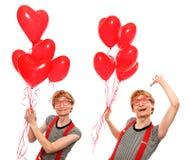 Dubbele nerdy liefde Royalty-vrije Stock Afbeeldingen