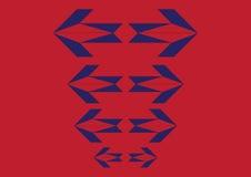 Het blauwe rood van de pijl Royalty-vrije Stock Fotografie