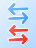 Dubbele pijlenpictogrammen Stock Afbeeldingen